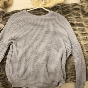 Baby blue brandy Melville sweater!!